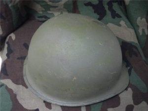 WW-2 OR VIETNAM HELMETS, AS-IS, REPAINTED.