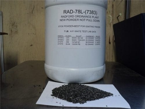 RAD-78L  RAD 78L POWDER FOR 223, 308, 30-06 WITH DATA SHEET (THIS POWDER  MAKES TRACERS WORK)  This powder is comparable to IMR 7383