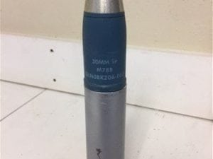 30mm Aden Deffa blue projectile dummy round