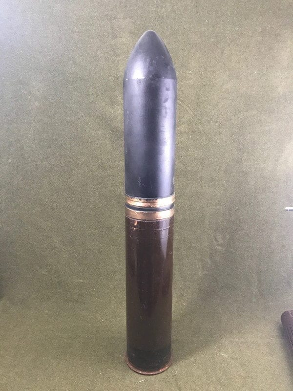 105mm Howitzer inert steel case dummy round with grade 2 projectile