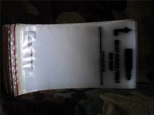 M-16, Ar-15 Magazine protector plastic bags for 20 or 30 round magazines. 50 per pack