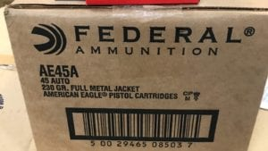 45 Full Metal Jacket - 1000 round case 230 Grain FMJ Ammo